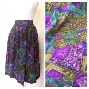 Abstract Multicolored Skirt // Katie  Brooke